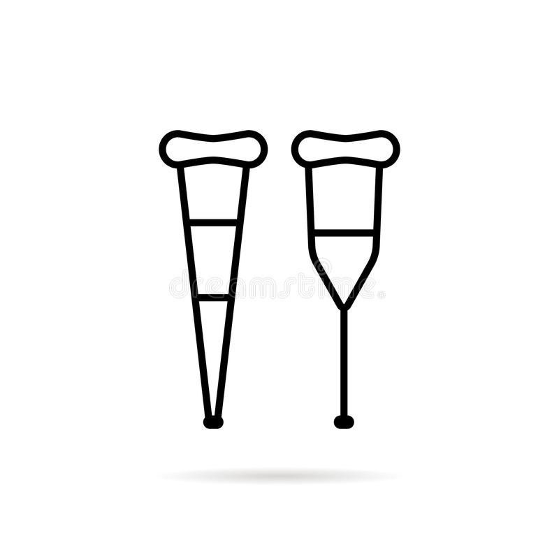 Het eenvoudige zwarte dunne pictogram van de lijnsteunpilaar stock illustratie
