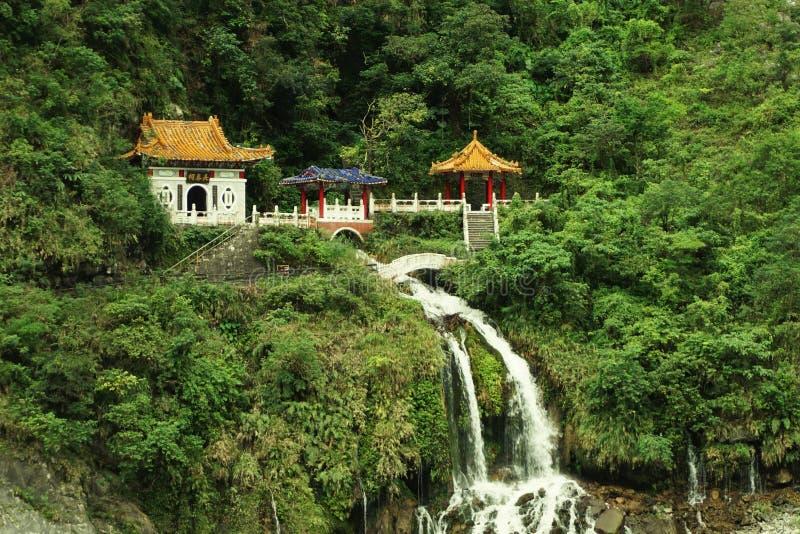 Het Eeuwige de Lenteheiligdom, het Nationale Park van Taroko, Hualien, Taiwan stock afbeeldingen