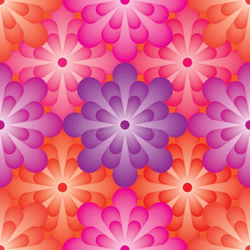 Het effect van de bloembal naadloos patroon stock illustratie
