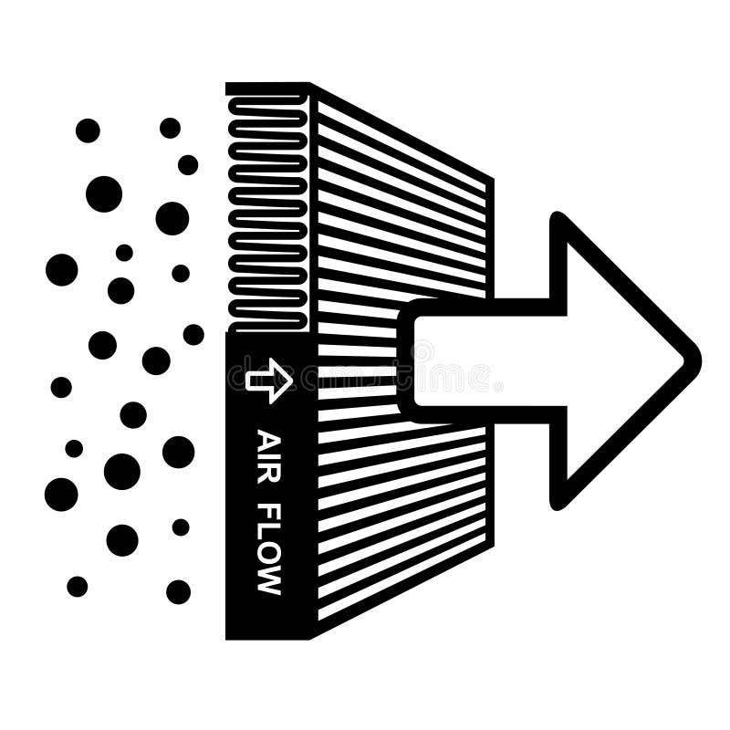 Het effect van de luchtfilter symbool royalty-vrije illustratie