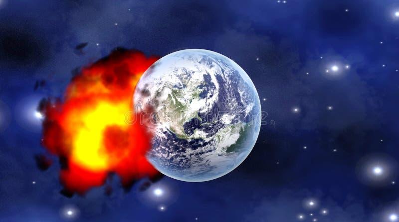 Het effect van de meteoor royalty-vrije illustratie