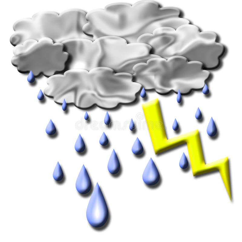 Het effect van het onweer royalty-vrije stock afbeeldingen