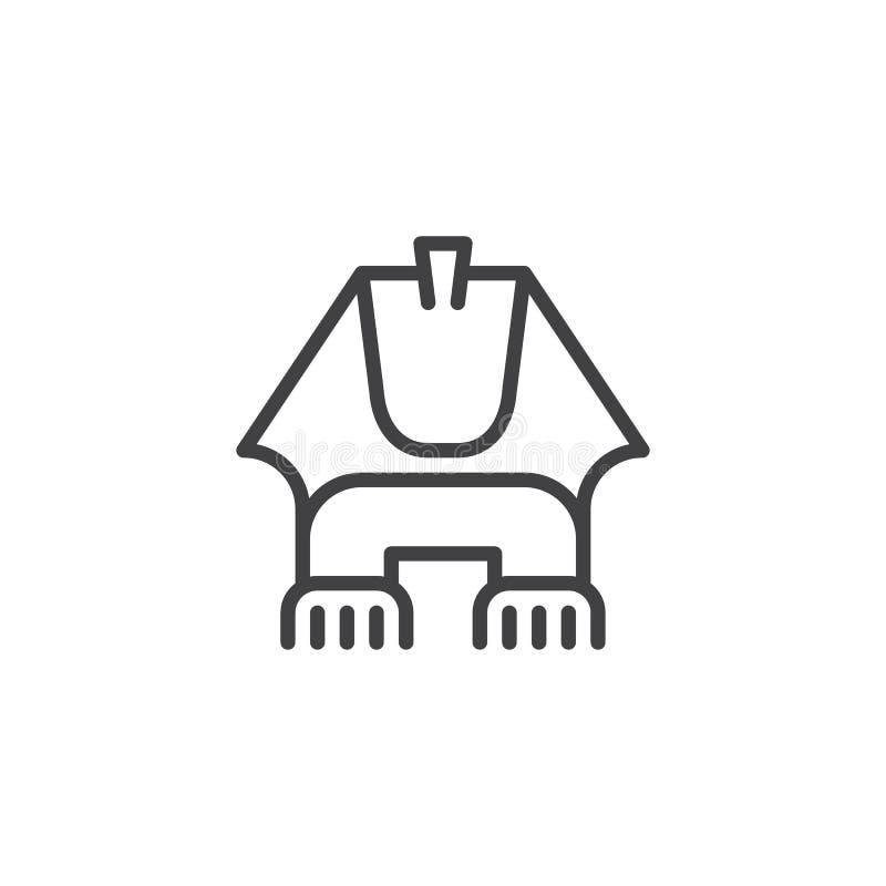 Het Egyptische pictogram van het sfinxoverzicht stock illustratie