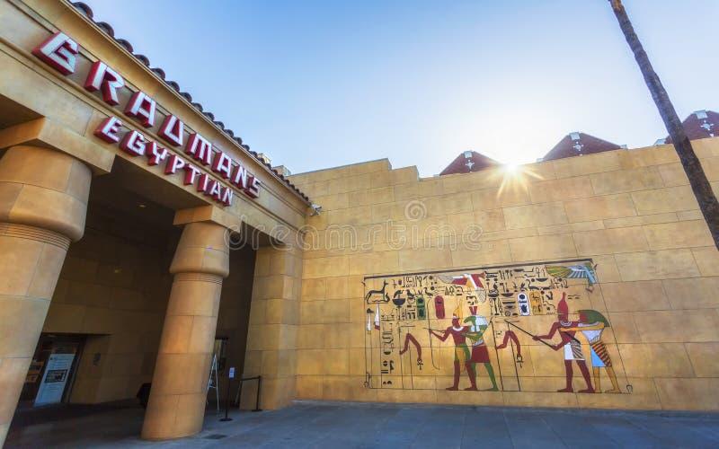 Het Egyptische Theater Hollywood, Hollywood-Boulevard, Hollywood, Los Angeles, Californië, de Verenigde Staten van Amerika, het N stock foto's