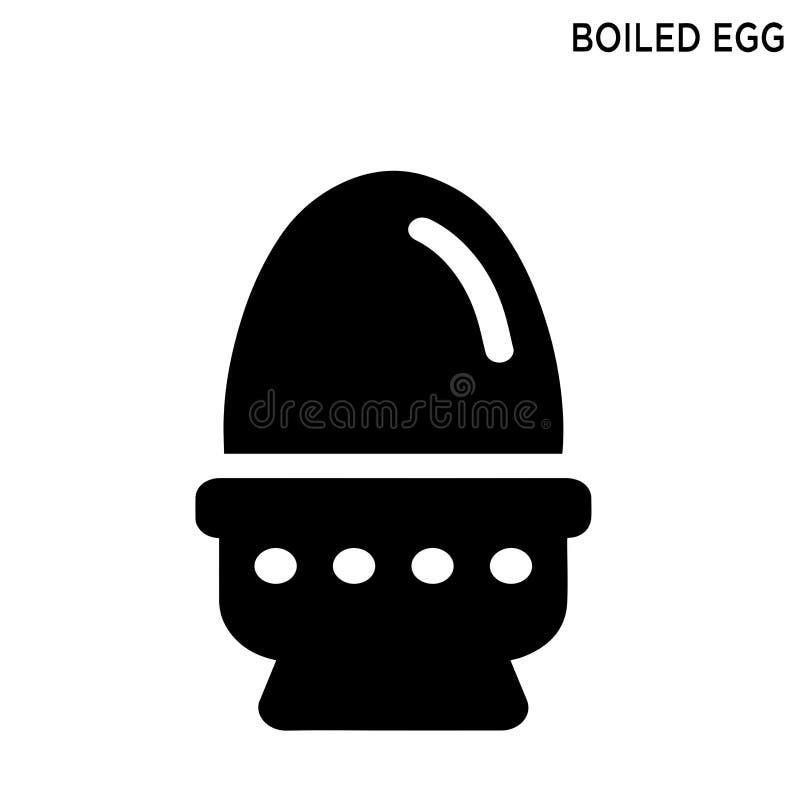 Het ei kookte het editable ontwerp van het pictogramsymbool stock illustratie