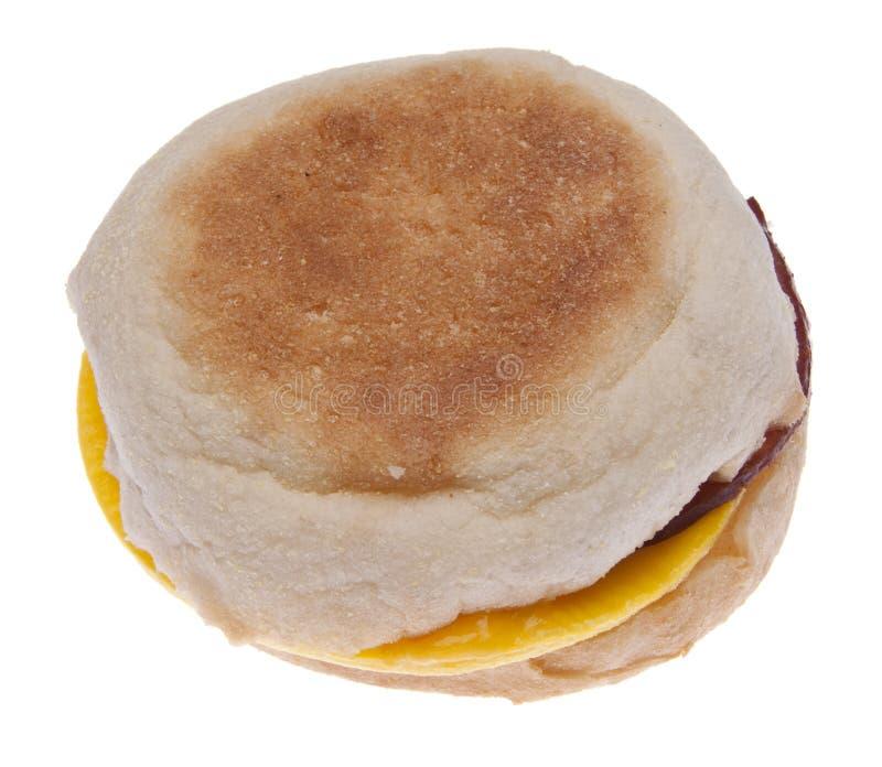 Het Ei van het bacon en de Sandwich van de Kaas op een Engelse Muffin royalty-vrije stock foto's