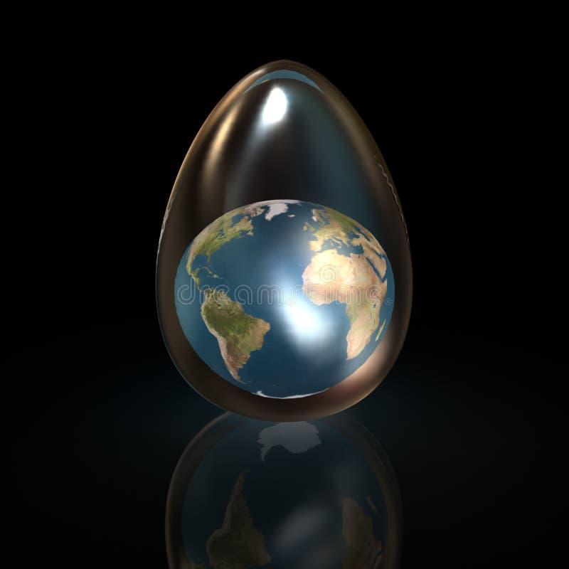 Het ei van het glas vector illustratie