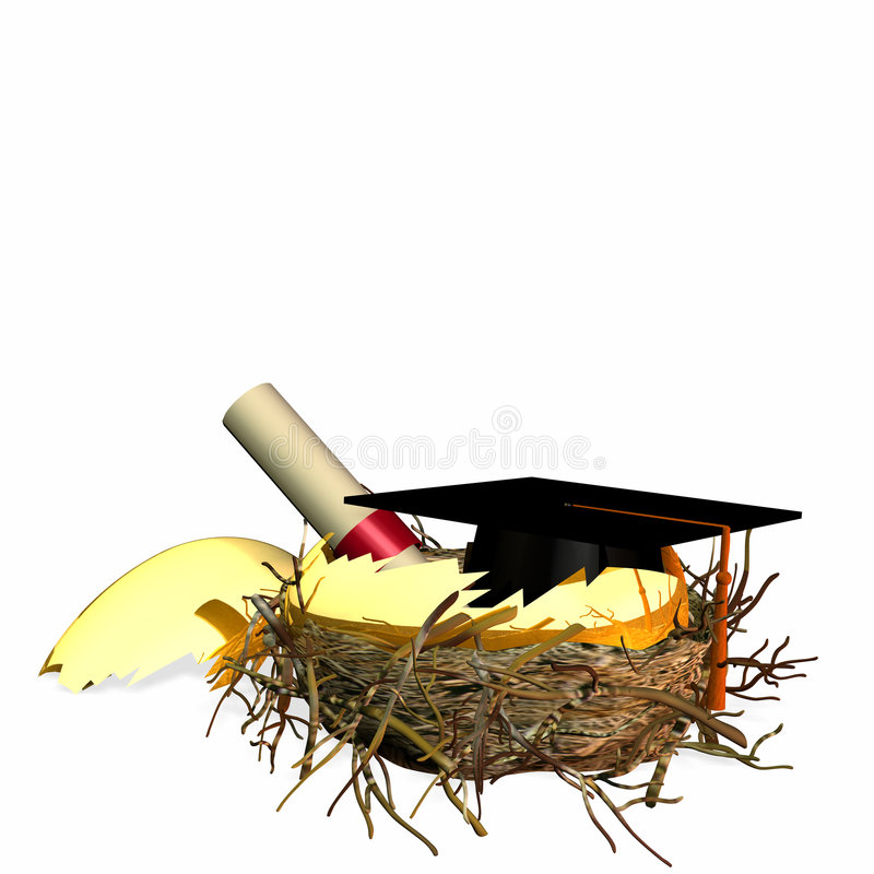 Het Ei van het Nest van het hoger onderwijs stock illustratie