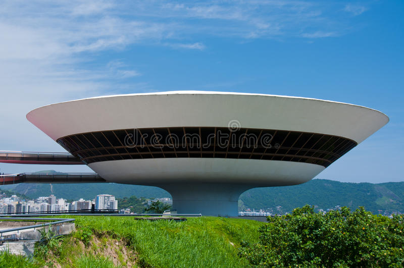 Het eigentijdse Museum van de Kunst, Rio de Janeiro stock afbeeldingen