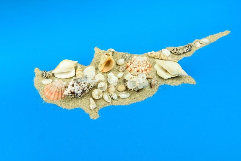 Het Eiland Cyprus van het zand en shells royalty-vrije stock fotografie