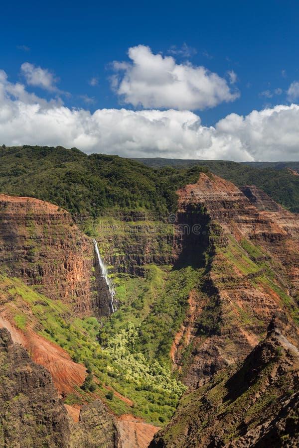 Het eiland Hawaï van Kauai van de Waimeacanion stock fotografie