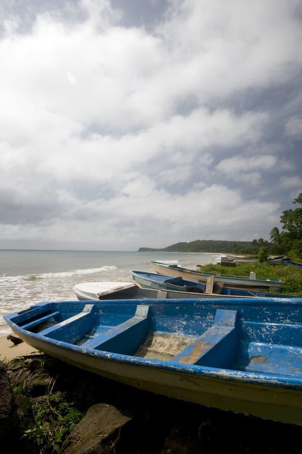 Het eiland Nicaragua van het vissersbootgraan royalty-vrije stock foto's