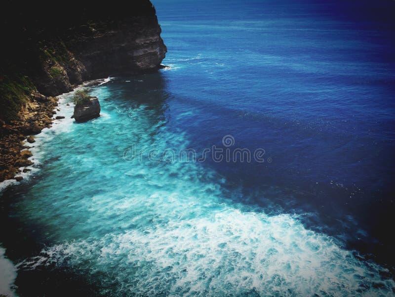 Het eiland Uluwatu van Bali stock foto