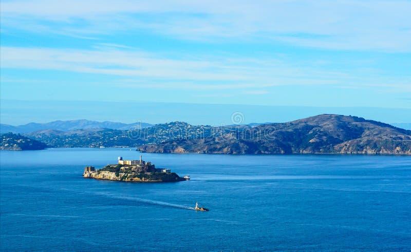 Het eiland van Alcatraz in San Francisco stock afbeeldingen