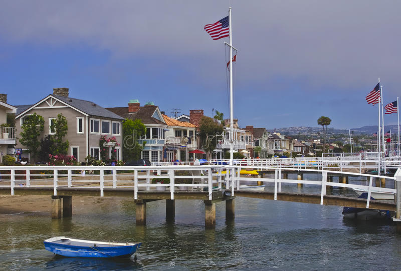 Het Eiland van Balboa, New Port Beach Californië royalty-vrije stock afbeeldingen