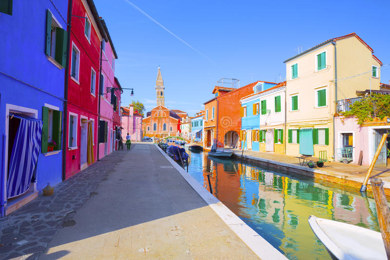 Het Eiland van Burano Venetië Italië royalty-vrije stock afbeelding