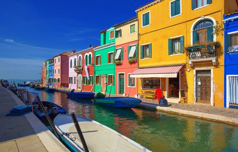 Het Eiland van Burano Venetië Italië stock afbeelding