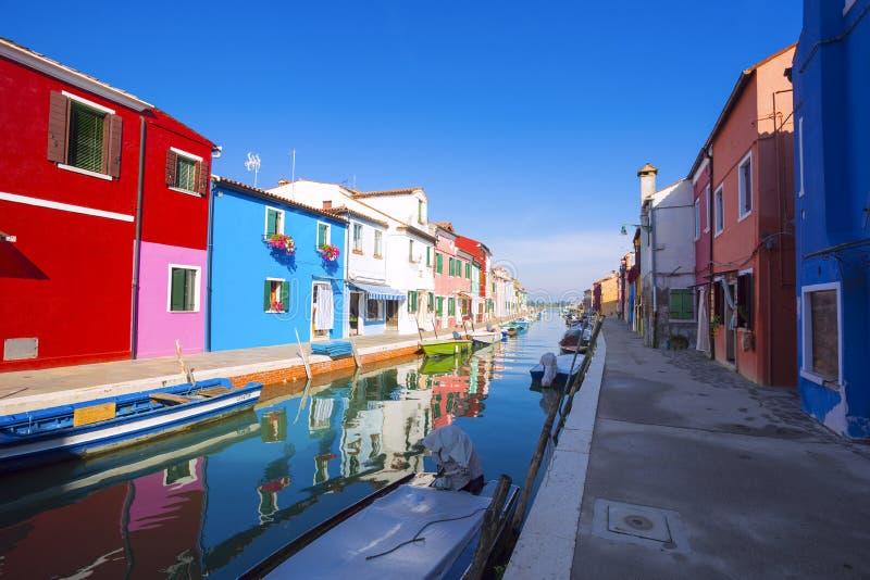 Het Eiland van Burano Venetië Italië royalty-vrije stock foto