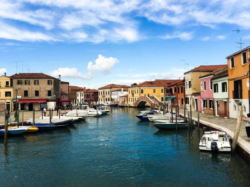 Het eiland van Burano, Venetië, Italië stock afbeelding