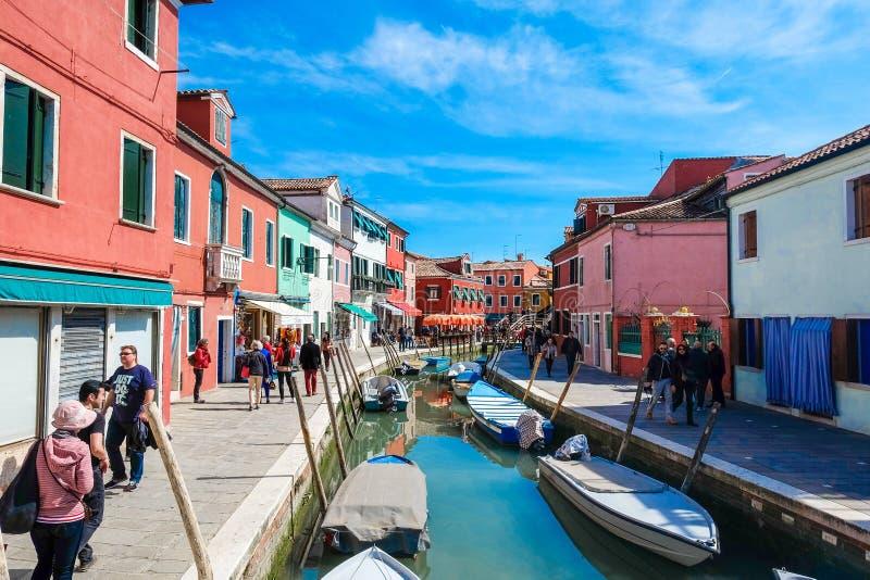 Het eiland van Burano, Venetië, Italië royalty-vrije stock afbeeldingen