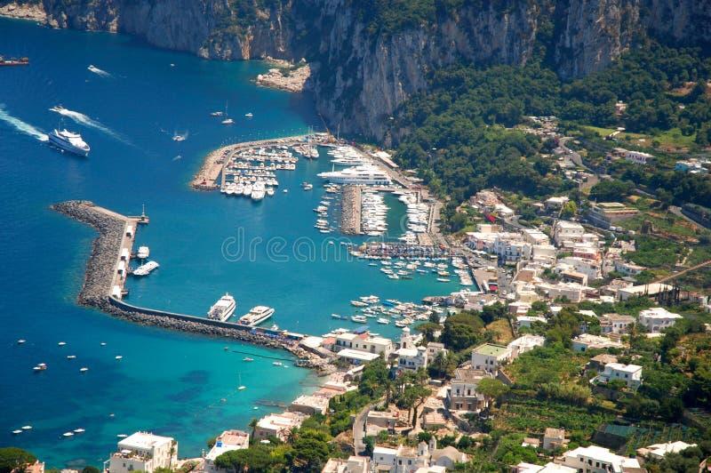 Het eiland van Capri stock foto's