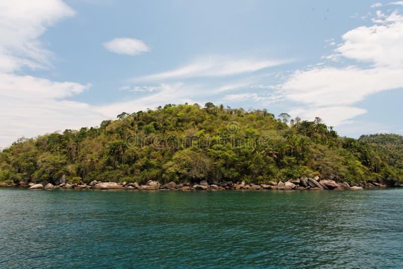 Het Eiland van de Baai van Paraty royalty-vrije stock afbeeldingen