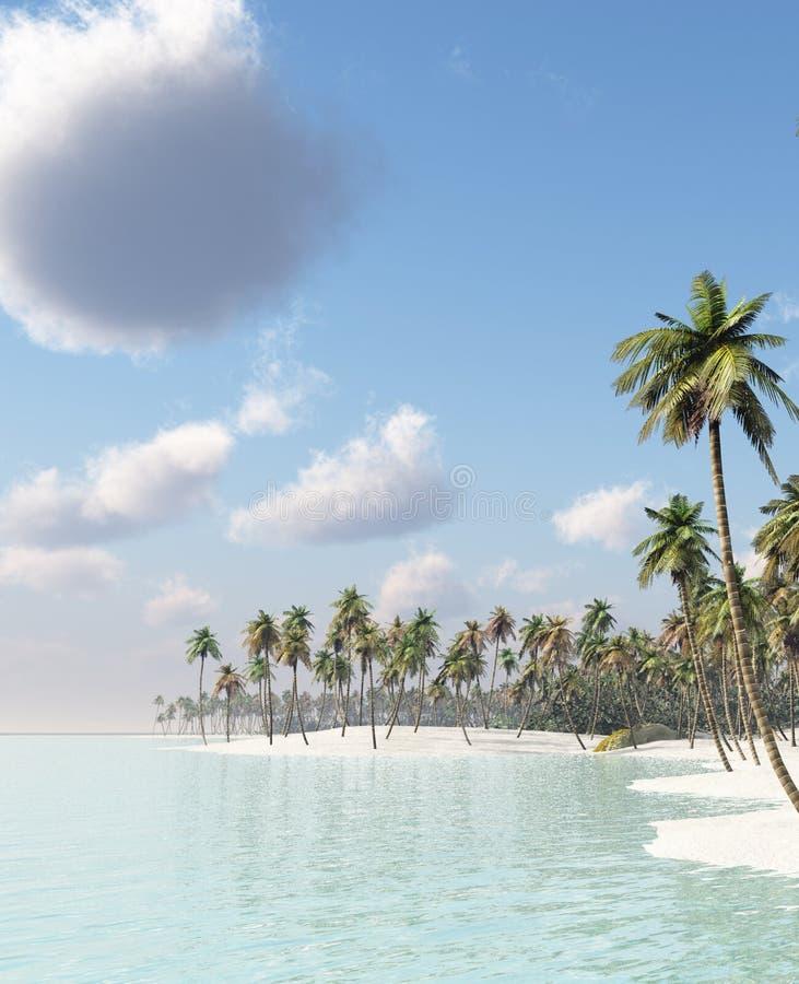 Het eiland van de droom royalty-vrije illustratie