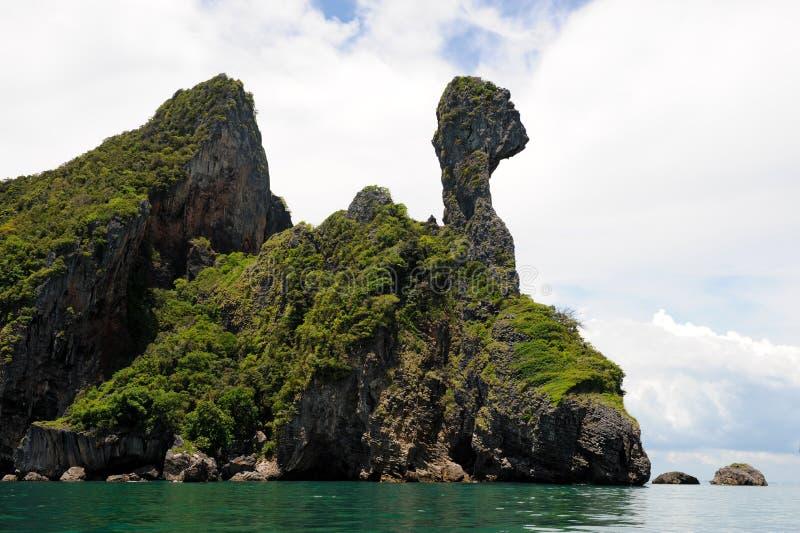 Het eiland van de kip royalty-vrije stock afbeelding