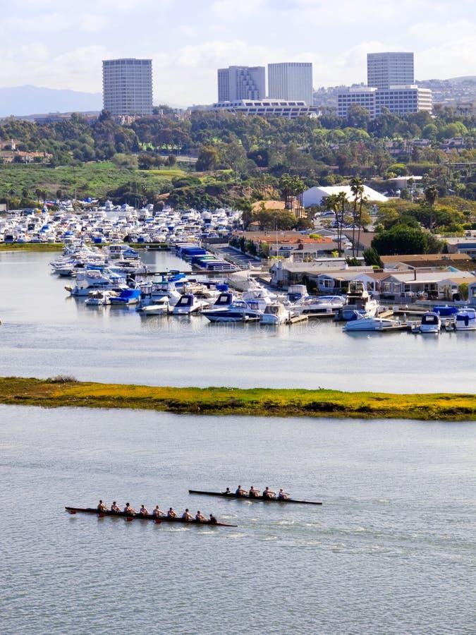 Het Eiland van de manier, New Port Beach, Californië royalty-vrije stock foto's