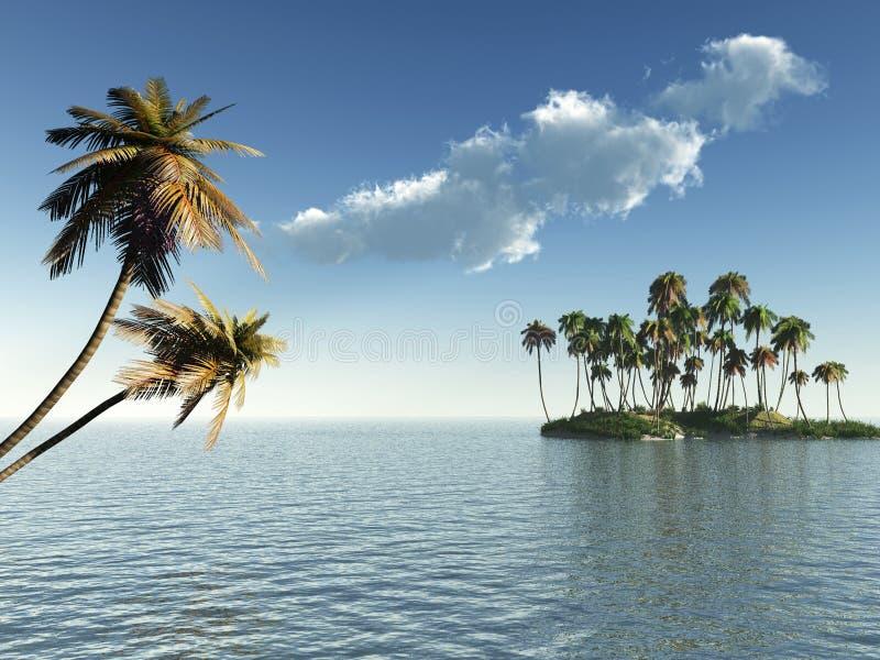 Het Eiland van de palm royalty-vrije illustratie