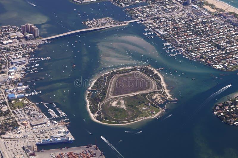 Het Eiland van de pinda, Florida stock fotografie