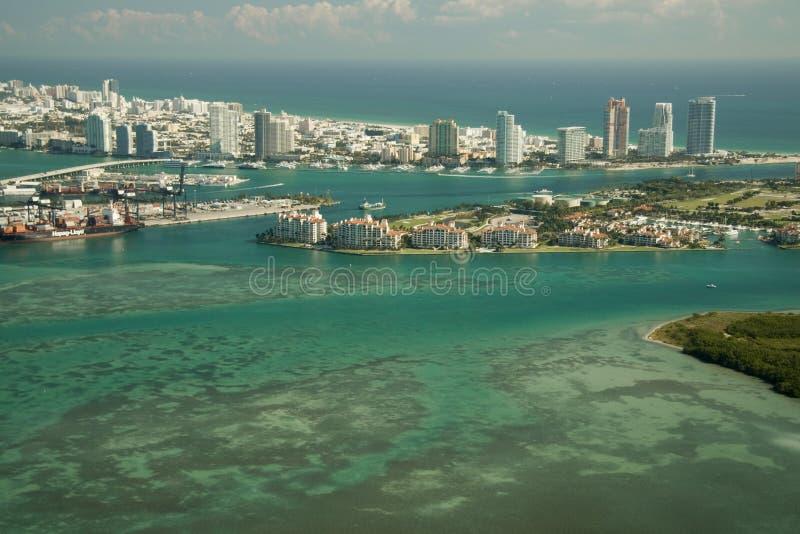 Het Eiland van de visser in Miami stock foto's