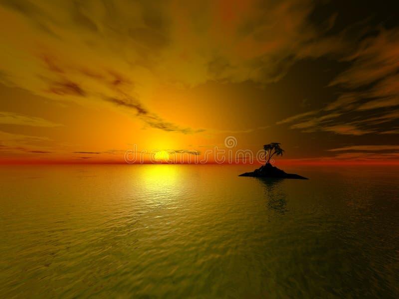 Het eiland van de zon royalty-vrije illustratie