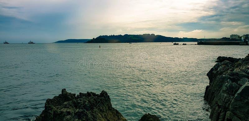 Het eiland van Drake stock foto