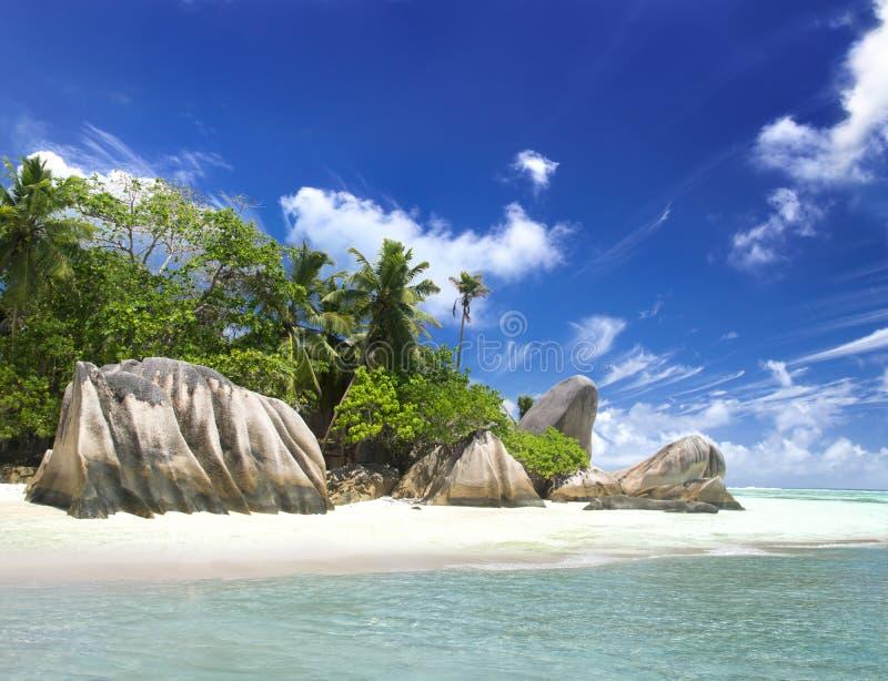 Het eiland van dromen. Rust en ontspanning. stock foto