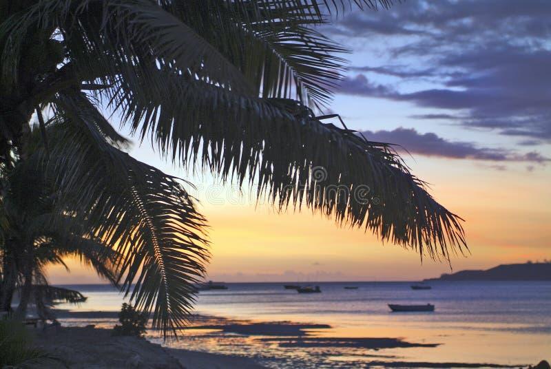 Het Eiland van Fiji, zonsopgang royalty-vrije stock fotografie