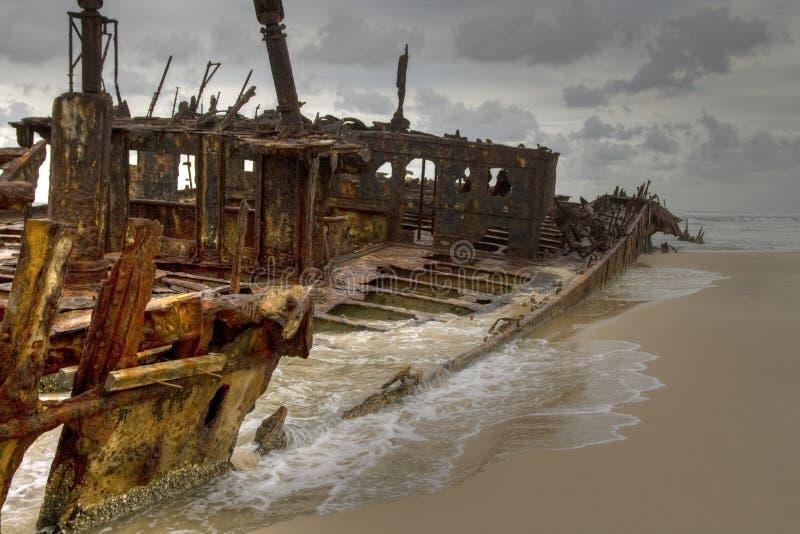 Het Eiland van Fraser van de schipbreuk stock afbeelding