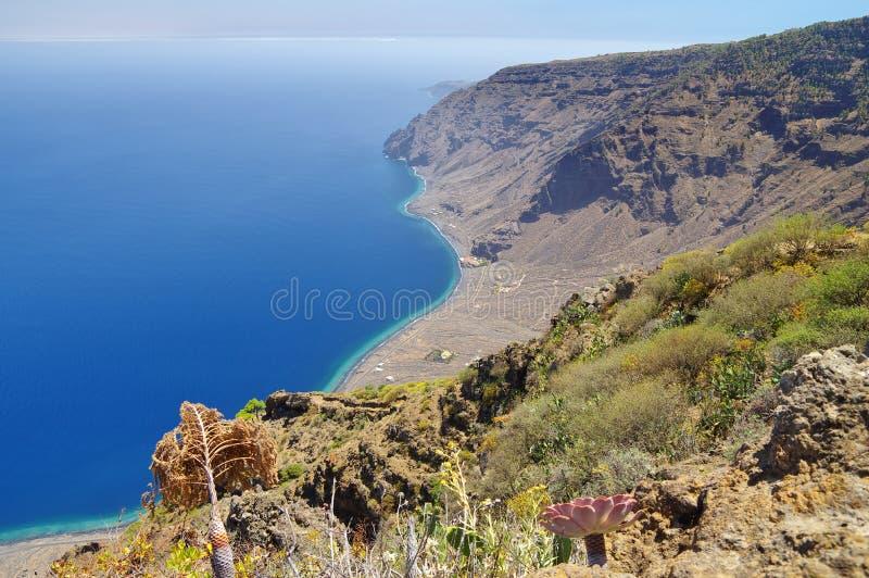 Het eiland van Gr Hierro spanje stock foto's