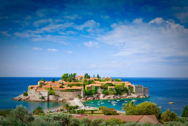 Het eiland van heilige Stefan royalty-vrije stock afbeelding