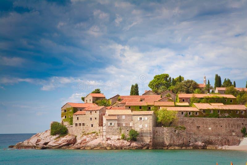 Het eiland van heilige Stefan stock foto's