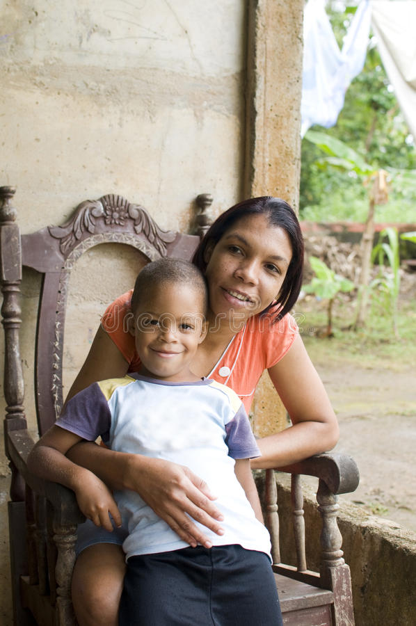 Het Eiland van het Graan van Nicaragua van de kinderen van de moeder stock foto's