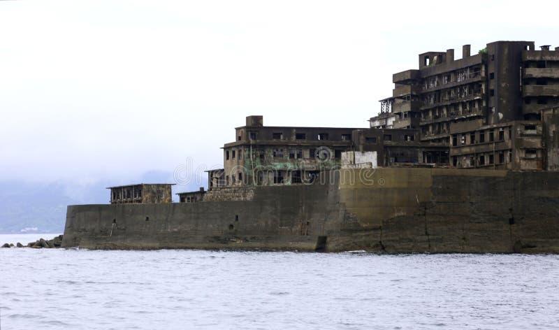 Het Eiland van het Gunkanjimaslagschip in Nagasaki Japan stock afbeeldingen