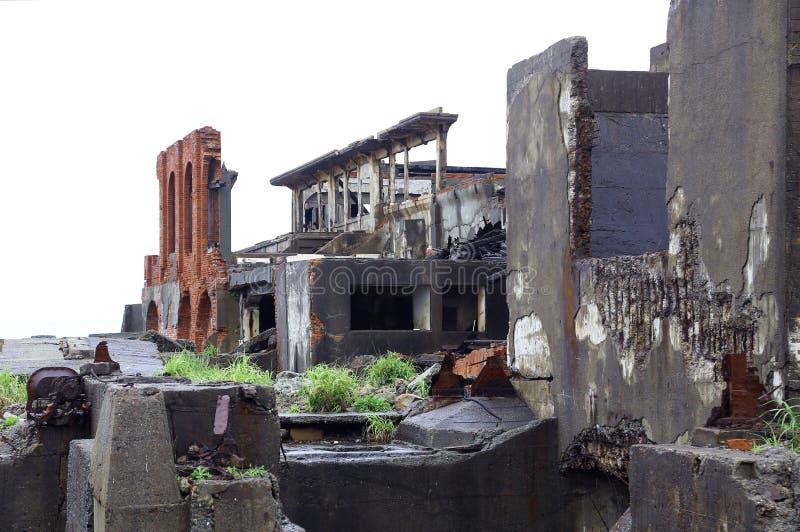 Het Eiland van het Gunkanjimaslagschip in Nagasaki Japan stock foto