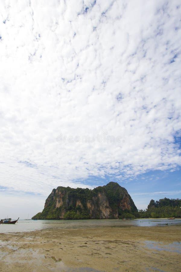 Het eiland van het strand stock afbeelding