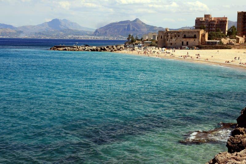 Het Eiland van het strand & van de kust Sicilië royalty-vrije stock foto