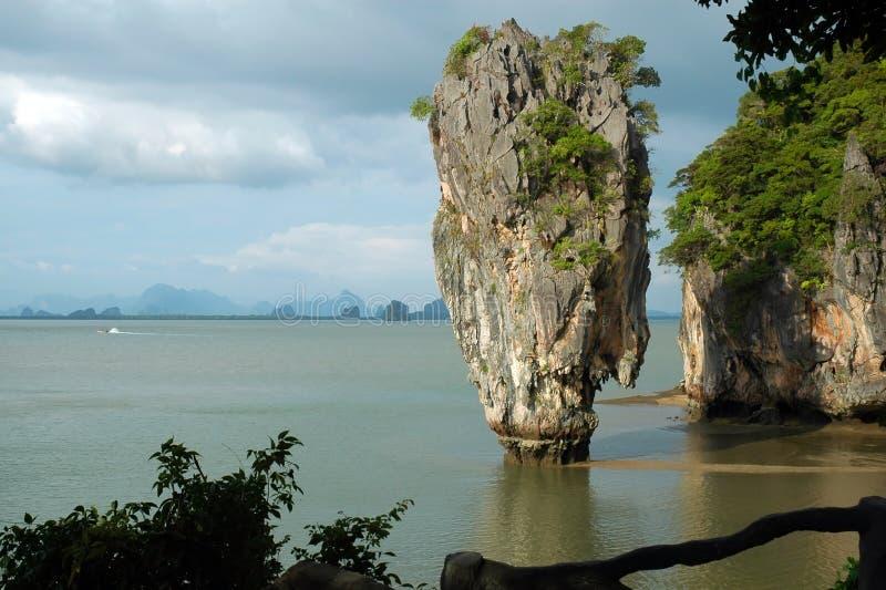 Het Eiland Van James Bond (Koh Tapoo), In Thailand Royalty-vrije Stock Foto's