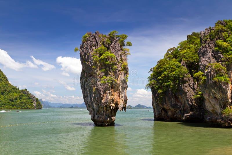 Het Eiland Van James Bond In Thailand Stock Afbeeldingen