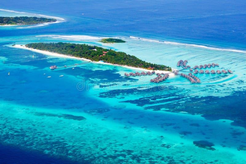 Het eiland van Kani in de Maldiven stock afbeeldingen