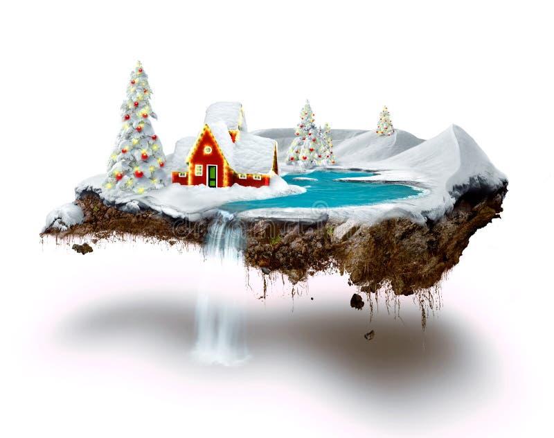 Het eiland van Kerstmis royalty-vrije illustratie