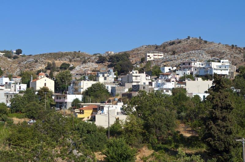 Het eiland van Kreta in Griekenland. Het dorp van Anogia stock fotografie